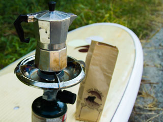Bamboo SUP board Coffee