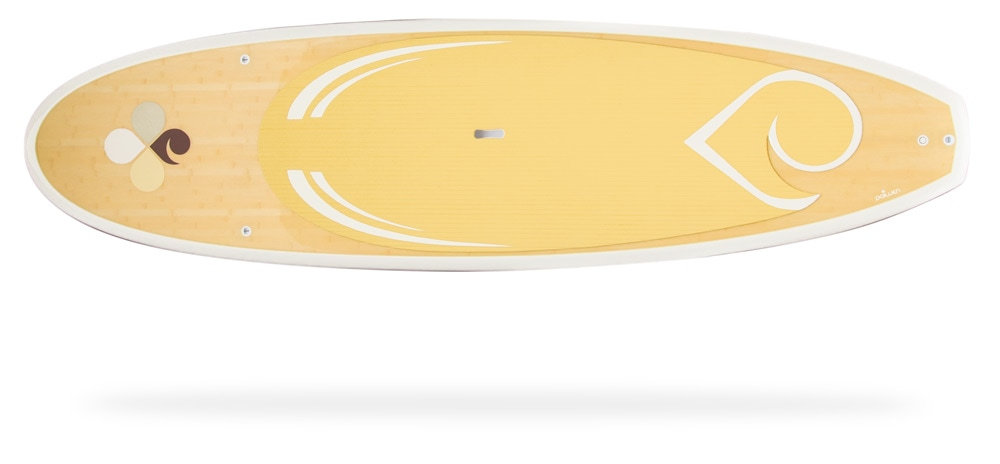 women's all around lightweight bamboo paddle board