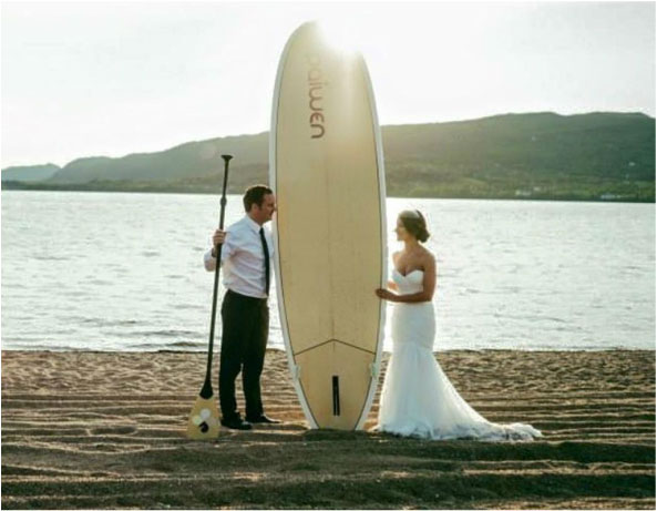 paddleboard wedding
